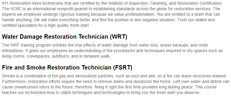 911 Restoration of Vancouver Certification Page