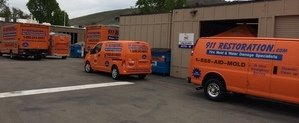 Mold and Water Damage Restoration Fleet At Headquarters